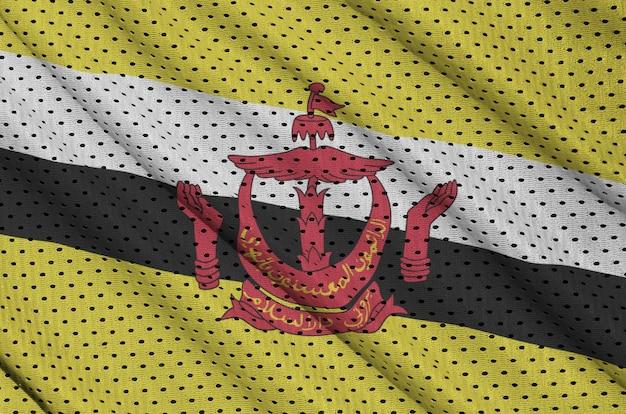 Flaga brunei darussalam nadrukowana na odzieży sportowej z nylonu poliestrowego