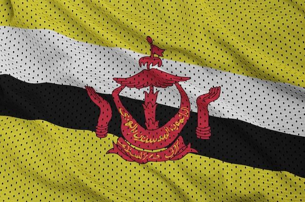 Flaga brunei darussalam wydrukowana na nylonowej siatce m