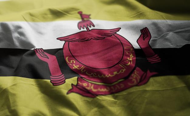 Flaga brunei rozpaczliwa z bliska