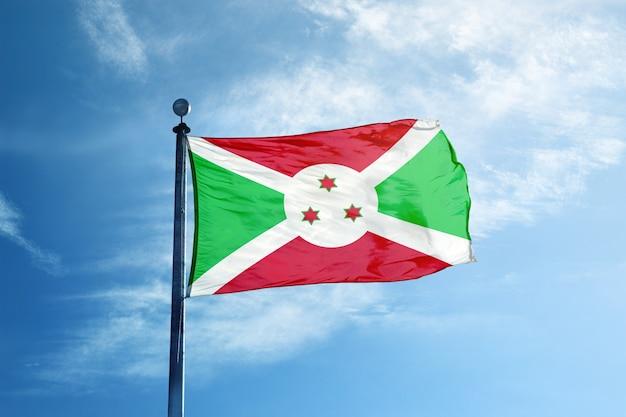 Flaga burundi na maszcie