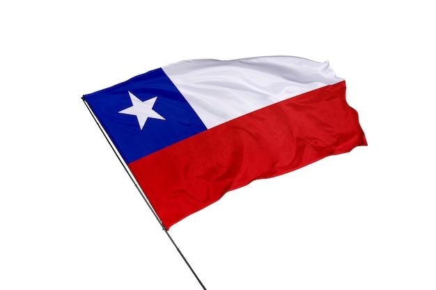 Flaga chile na białym tle