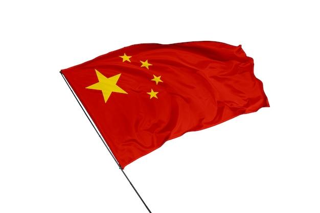 Flaga chin na białym tle