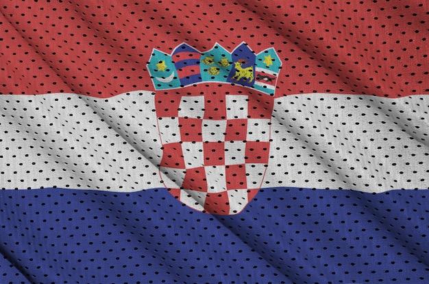 Flaga chorwacji wydrukowana na nylonowej siatce z poliestru