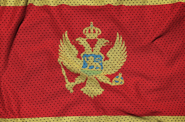 Flaga czarnogóry nadrukowana na nylonowej siatce z poliestru