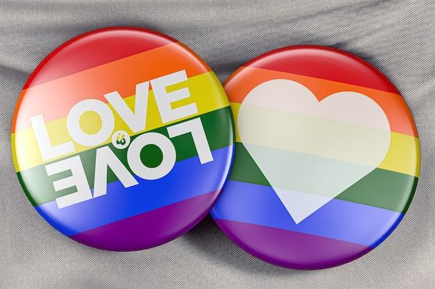 Flaga dumy gejowskiej przyciski 3d ilustracja