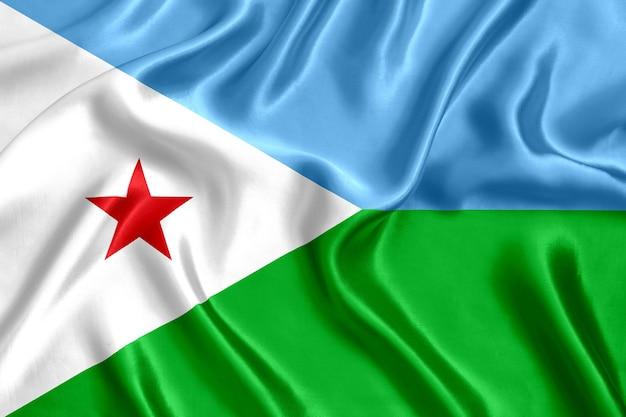 Flaga dżibuti jedwabiu szczegół tło