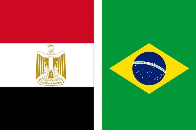 Flaga egiptu i flaga brazylii