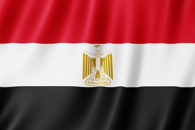 Flaga egiptu na wietrze.