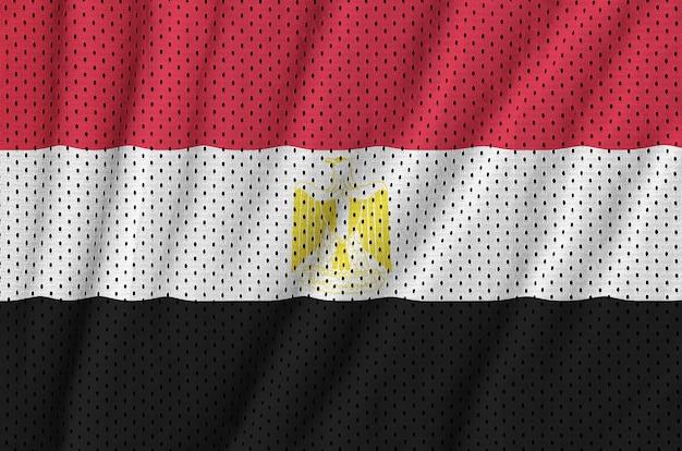 Flaga egiptu wydrukowana na siatce z nylonu poliestrowego