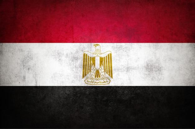 Flaga egiptu z grunge tekstur.