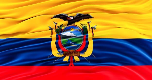 Flaga ekwadoru na dzień pamięci, ekwador macha flagą, dzień niepodległości.