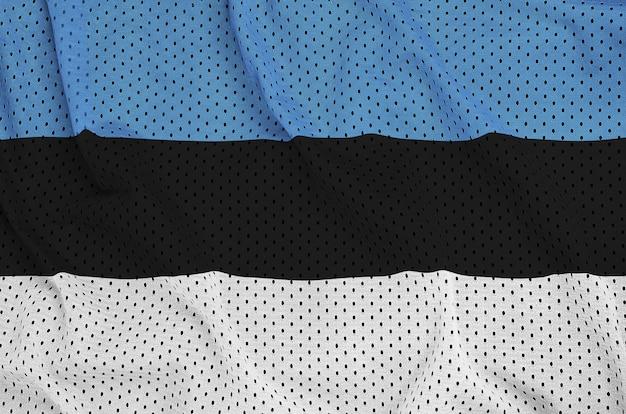 Flaga estonii wydrukowana na nylonowej siatce odzieży sportowej