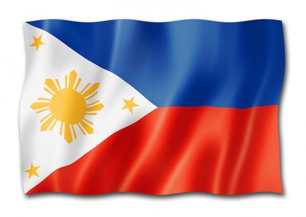 Flaga filipin na białym tle