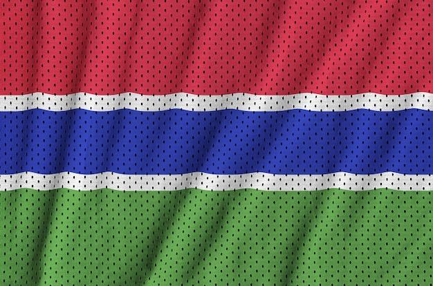 Flaga gambii nadrukowana na nylonowej siatce odzieży sportowej z poliestru
