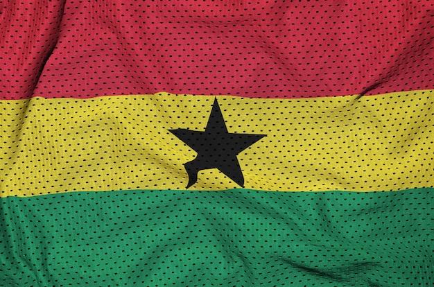 Flaga ghany drukowana na siatce z nylonu poliestrowego