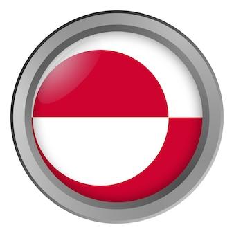Flaga grenlandii okrągła jako guzik