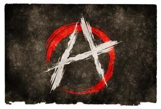 Flaga grunge anarchia