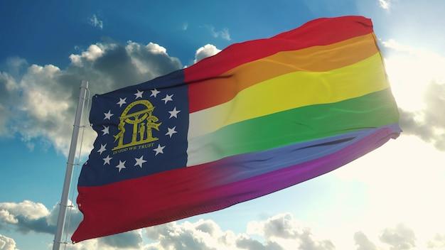 Flaga gruzji i lgbt