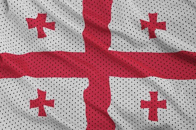 Flaga gruzji wydrukowana na nylonowej siatce odzieży sportowej