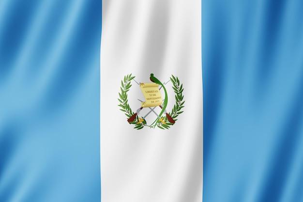 Flaga gwatemali na wietrze.