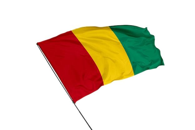 Flaga gwinei na białym tle