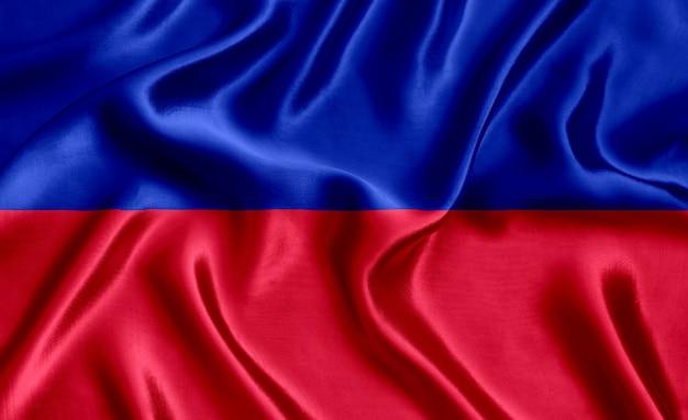 Flaga haiti cywilnego jedwabiu szczegół tło