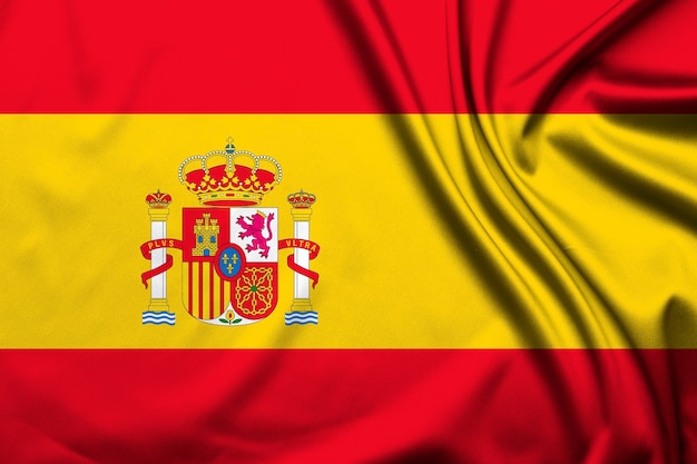 Flaga hiszpanii jako tło