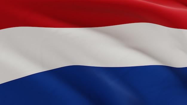 Flaga holandii macha na wietrze, tkaniny mikro tekstura w ilości 3d odpłaca się