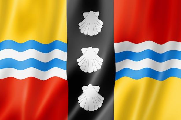 Flaga hrabstwa bedfordshire, wielka brytania