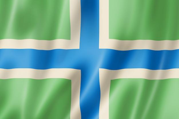 Flaga hrabstwa gloucestershire, wielka brytania