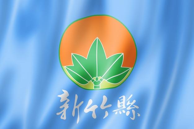 Flaga hrabstwa hsinchu, chiny macha kolekcja transparentu. ilustracja 3d