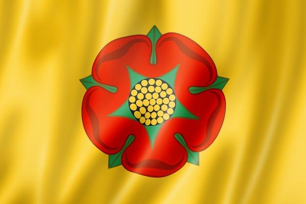Flaga hrabstwa lancashire, wielka brytania