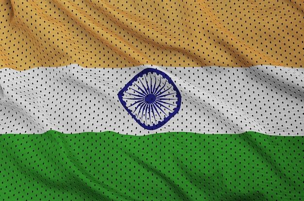 Flaga indii nadrukowana na nylonowej tkaninie z poliestru i odzieży sportowej