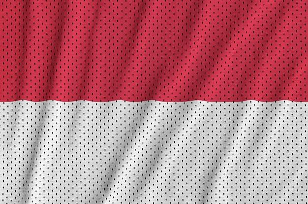 Flaga indonezji wydrukowana na nylonowej siatce z tkaniny sportowej