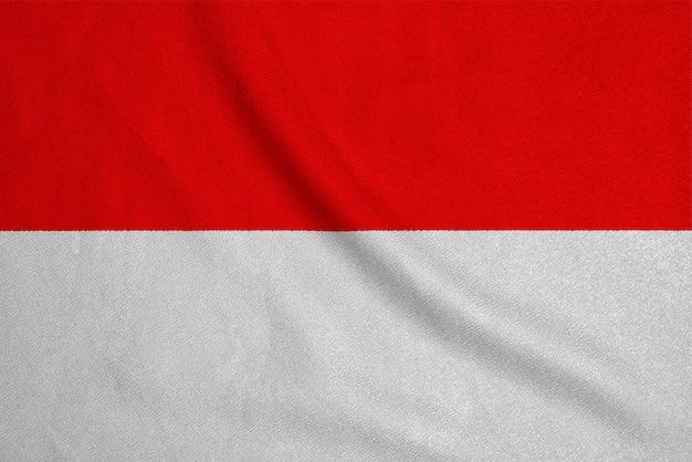 Flaga indonezji z fabrycznej dzianiny
