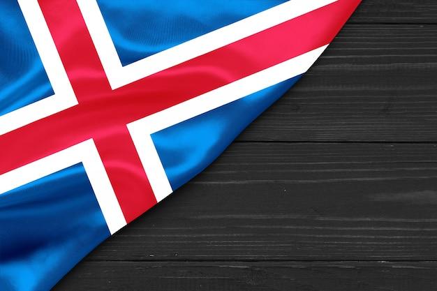 Flaga islandii kopia przestrzeń