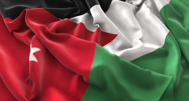 Flaga jordanii sztuk pięknie macha makro close-up shot