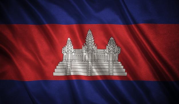 Flaga kambodży tło