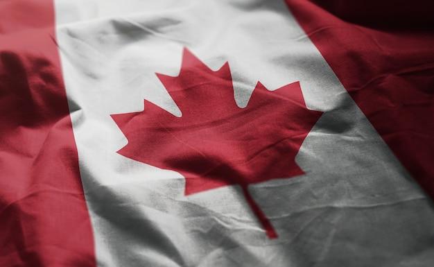 Flaga kanady popsutymi bliska