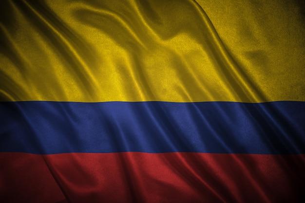 Flaga kolumbii tło