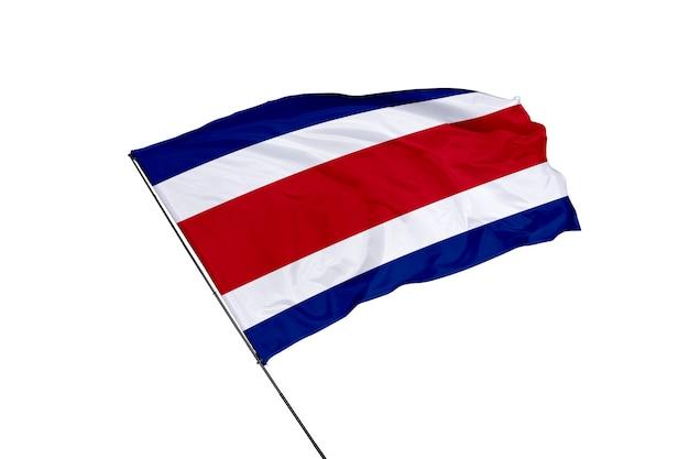 Flaga kostaryki na białym tle