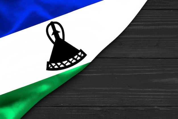 Flaga lesotho kopia przestrzeń