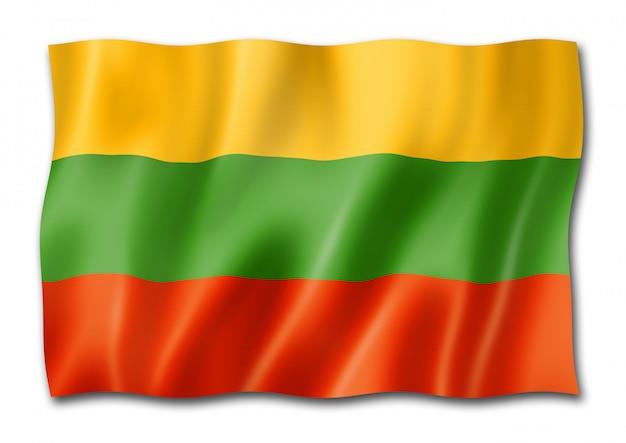 Flaga litwy na białym tle
