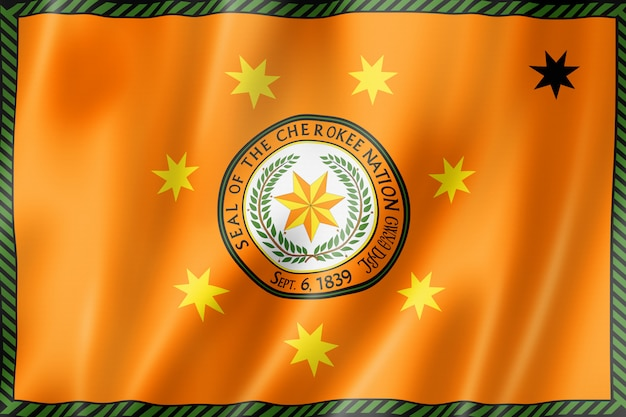 Flaga ludowa cherokee, usa