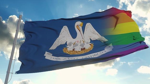 Flaga luizjany i lgbt