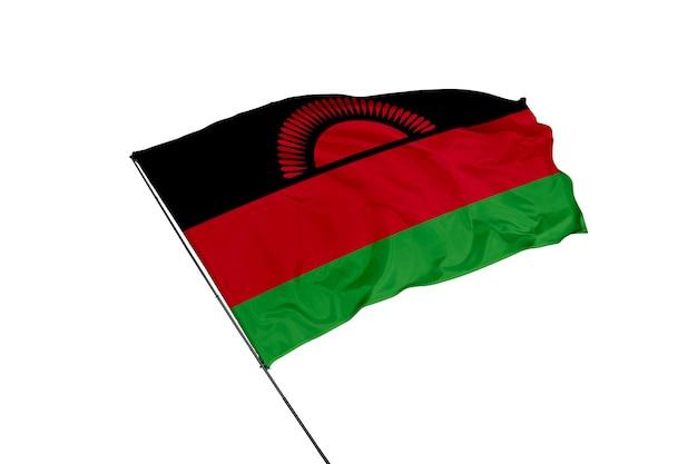 Flaga malawi na białym tle