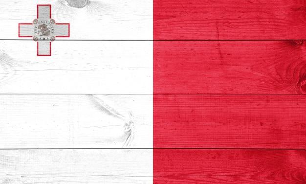 Flaga malty malowane na drewniany płot
