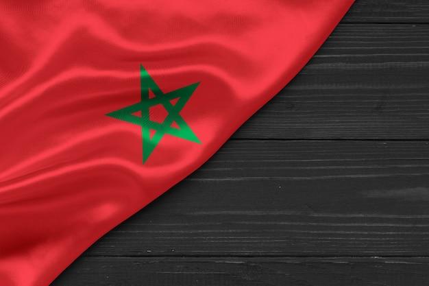 Flaga maroka kopia przestrzeń