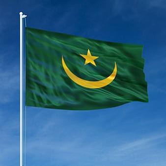 Flaga mauretanii pływające
