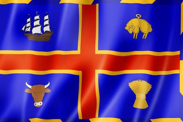 Flaga miasta adelaide, australia macha kolekcja transparentu. ilustracja 3d